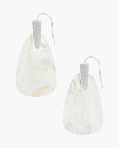 Marty Gold Drop Earrings in Ivory Mother-of-Pearl