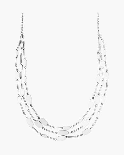 Channing Layered Necklace in Bright Silver