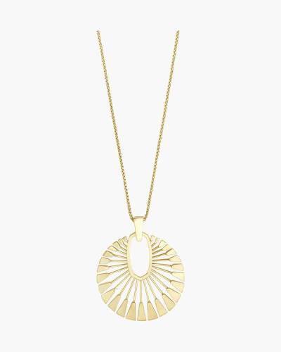 Deanne Gold Long Pendant Necklace