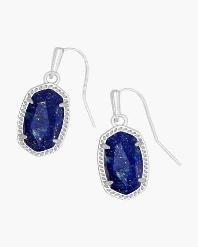 Lee Silver Drop Earrings in Blue Lapis