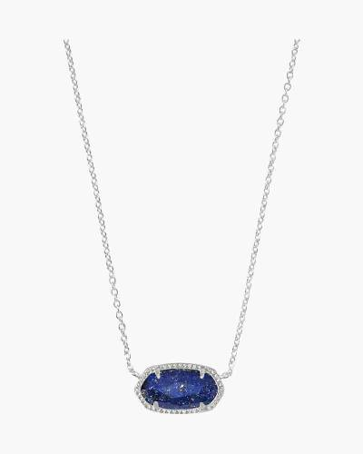 Elisa Silver Pendant Necklace in Blue Lapis