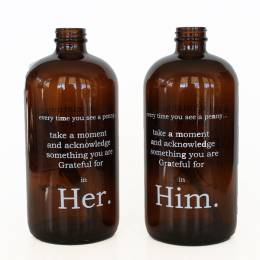 Studio Penny Lane Him and Her Amber Apothecary Jars