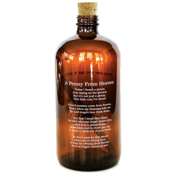 Studio Penny Lane Pennies from Heaven Amber Apothecary Jar