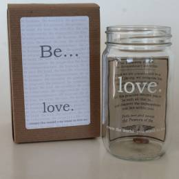 Studio Penny Lane Be Love Mason Jar