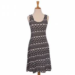 Fantazia Black and White Chevron Dress