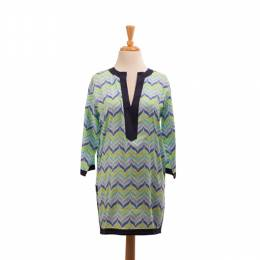 Malabar Bay Blue Zigzag Tunic