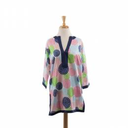 Malabar Bay Multicolor Flower Tunic