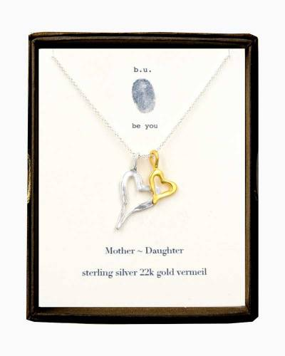 Sterling Silver Mother Daughter Necklace