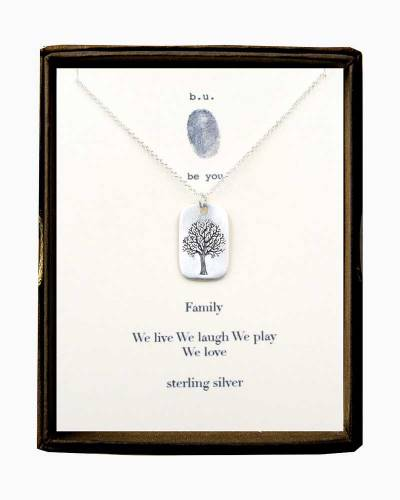 Family Tree Tag Necklace