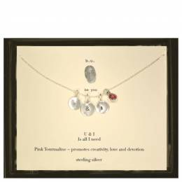 B. U. Jewelry U and I Pink Tourmaline Necklace in Silver