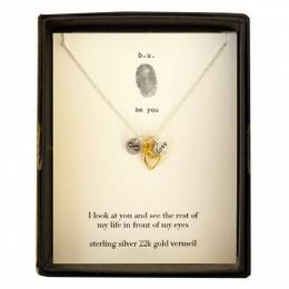 B. U. Jewelry Infinite Love Necklace in Gold and Silver