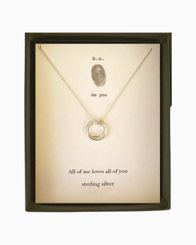 B. U. Jewelry All of Me Loves All of You Necklace in Silver