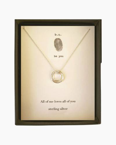All of Me Loves All of You Necklace in Silver