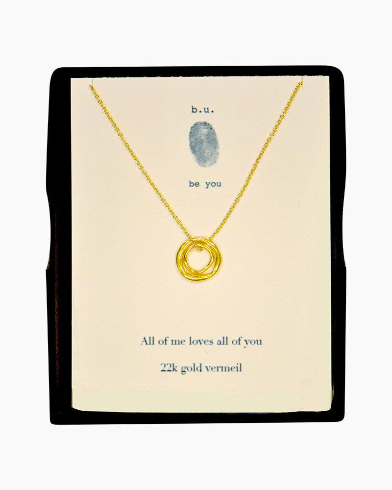 B. U. Jewelry All of Me Loves All of You Necklace in Gold