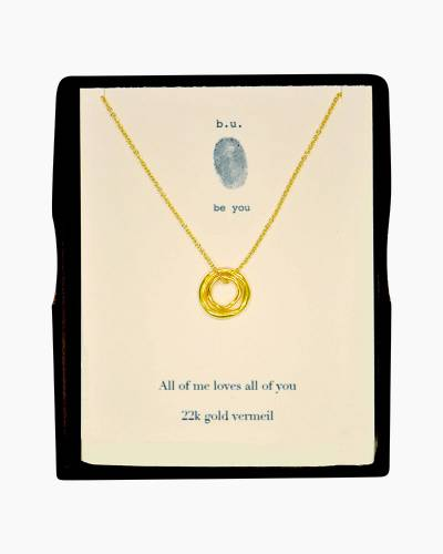 All of Me Loves All of You Necklace in Gold