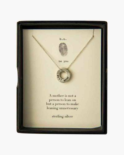 Best Mom Ring Necklace in Silver