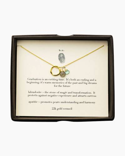 Graduation is an Exciting Time Necklace in Gold