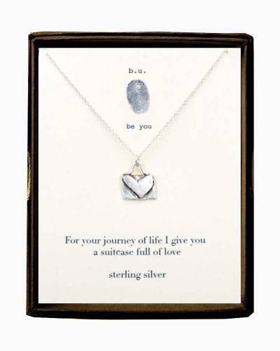Suitcase Full of Love Necklace in Silver
