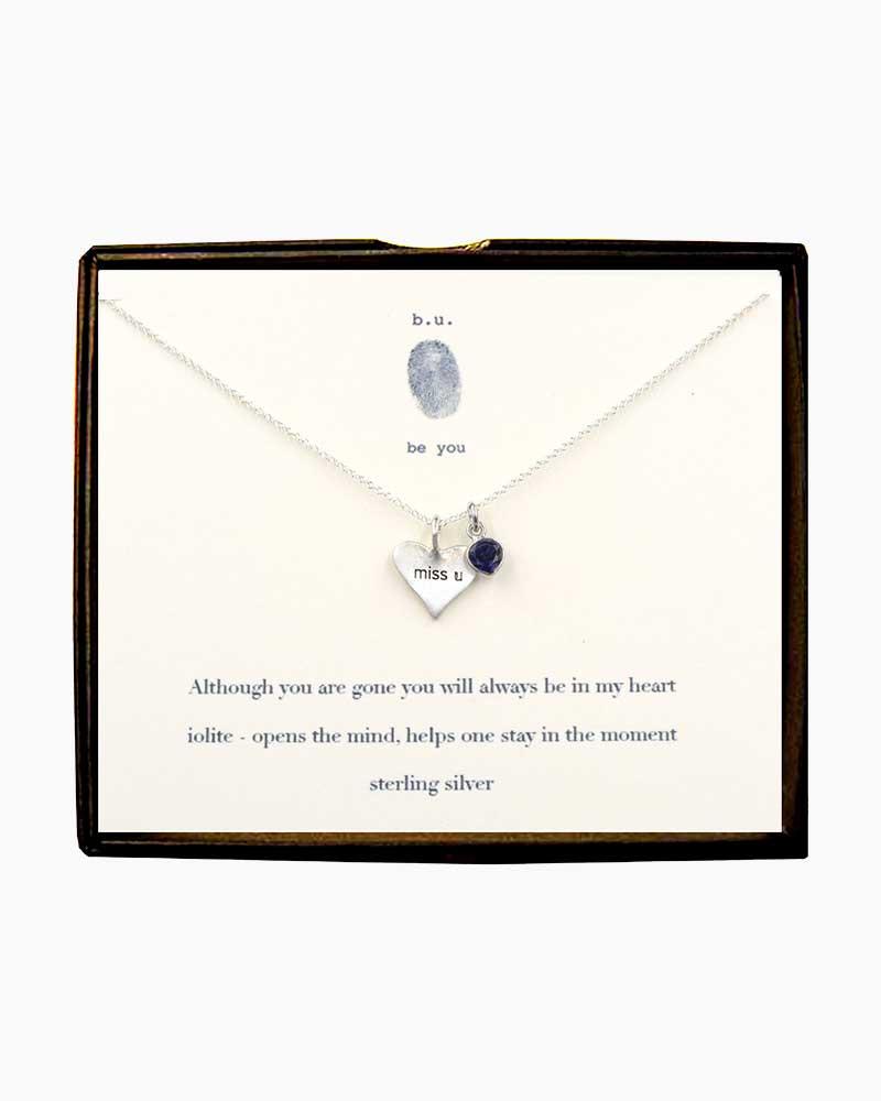 B U Jewelry Miss Heart And Iolite