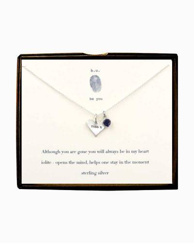 Miss U Heart and Iolite Necklace