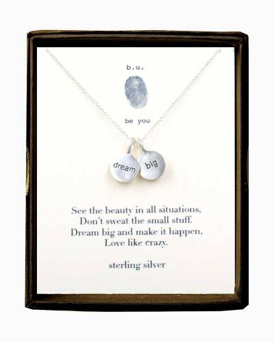 Dream Big Charms SIlver Necklace