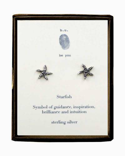 Starfish Silver Stud Earrings
