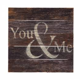Second Nature by Hand You and Me Wood Sign