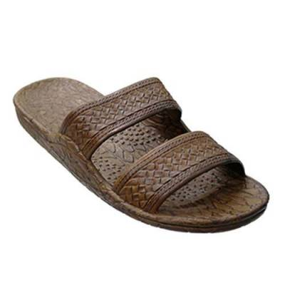 Classic Brown Double Strap Unisex Sandals
