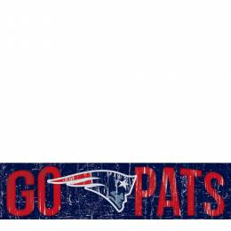 Fan Creations Go Pats Wooden Sign