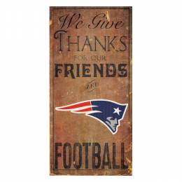 Fan Creations New England Patriots Give Thanks Wooden Sign