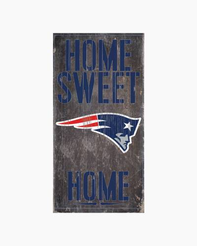 New England Patriots Home Sweet Home Wooden Sign