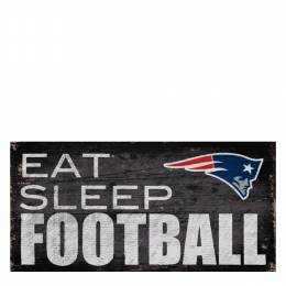 Fan Creations New England Patriots Eat Sleep Football Wooden Sign