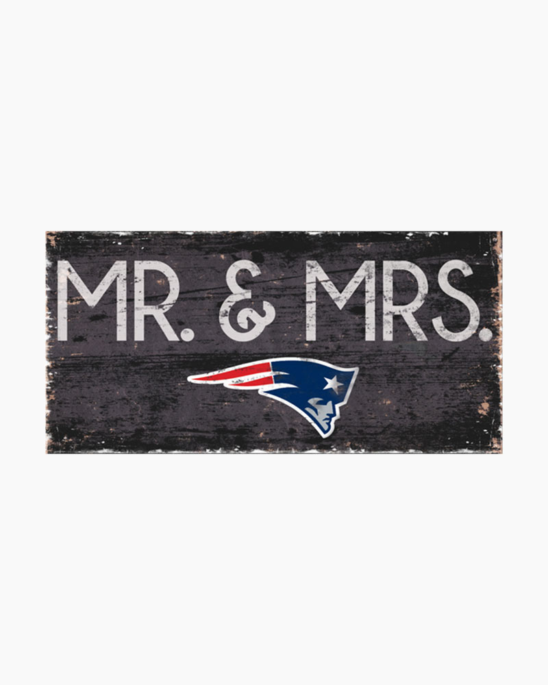 Fan Creations New England Patriots Mr And Mrs Wooden Sign The Paper Store