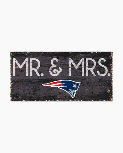 New England Patriots Mr. and Mrs. Wooden Sign