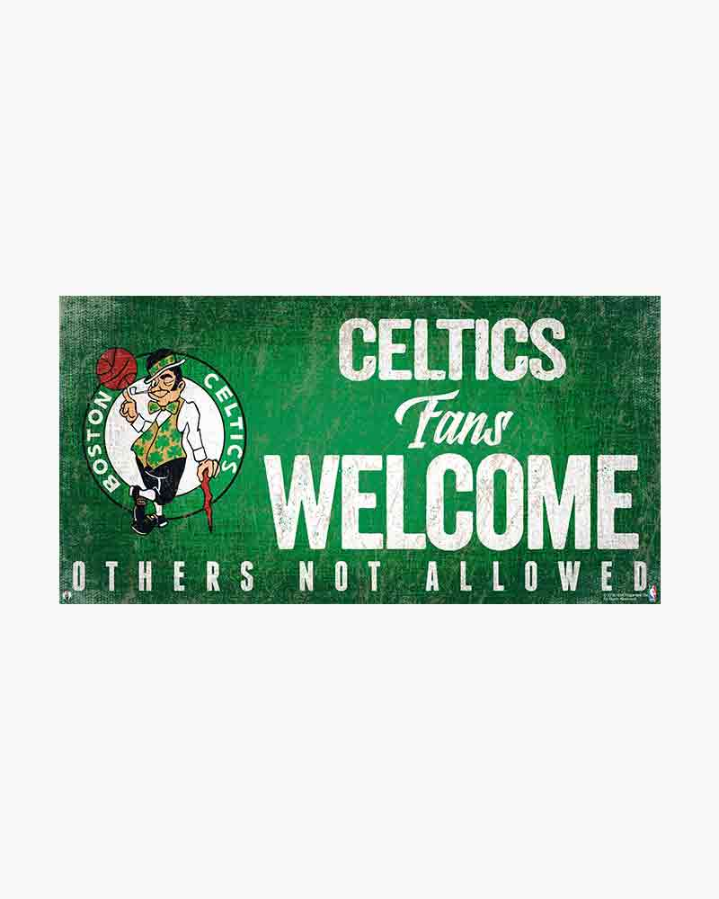 Fan Creations Boston Celtics Fans Welcome Wooden Sign