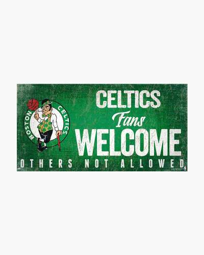 Boston Celtics Fans Welcome Wooden Sign