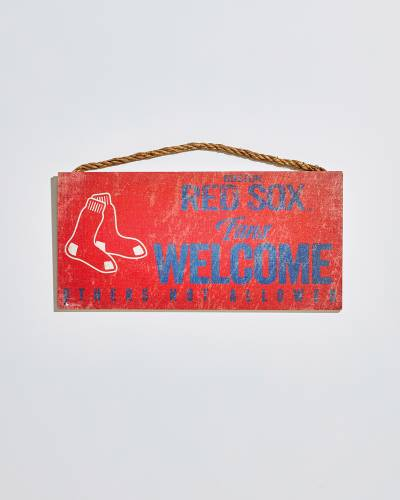 Boston Red Sox Fans Welcome Wooden Sign