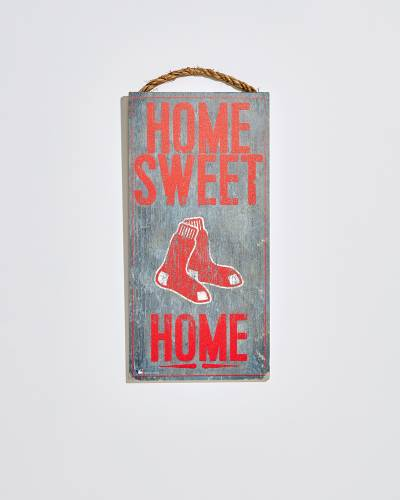 Boston Red Sox Home Sweet Home Wooden Sign
