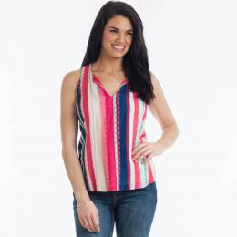 Renee C. Sleeveless Stripe Top
