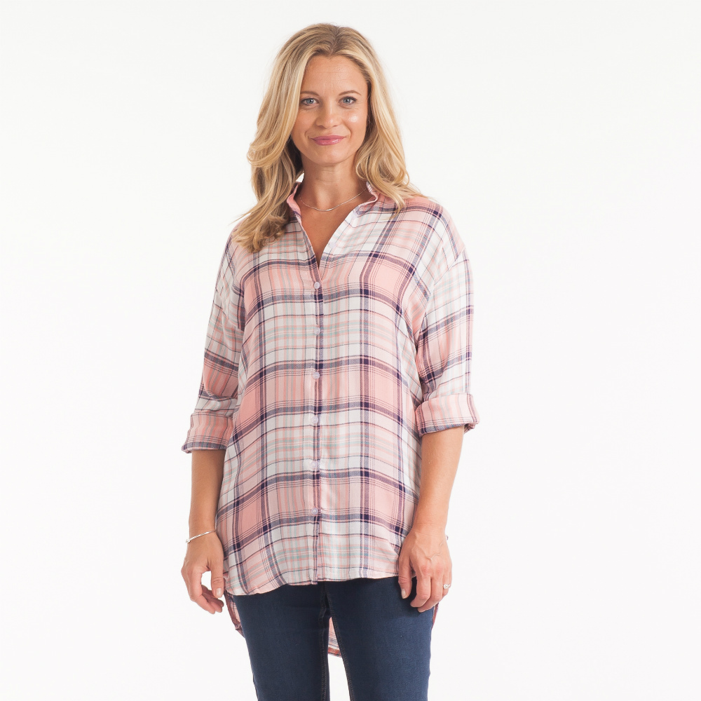 Dreamers Pastel Plaid Shirt