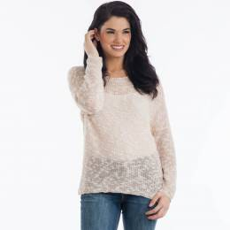 Dreamers Open Stitch Sweater in Pink