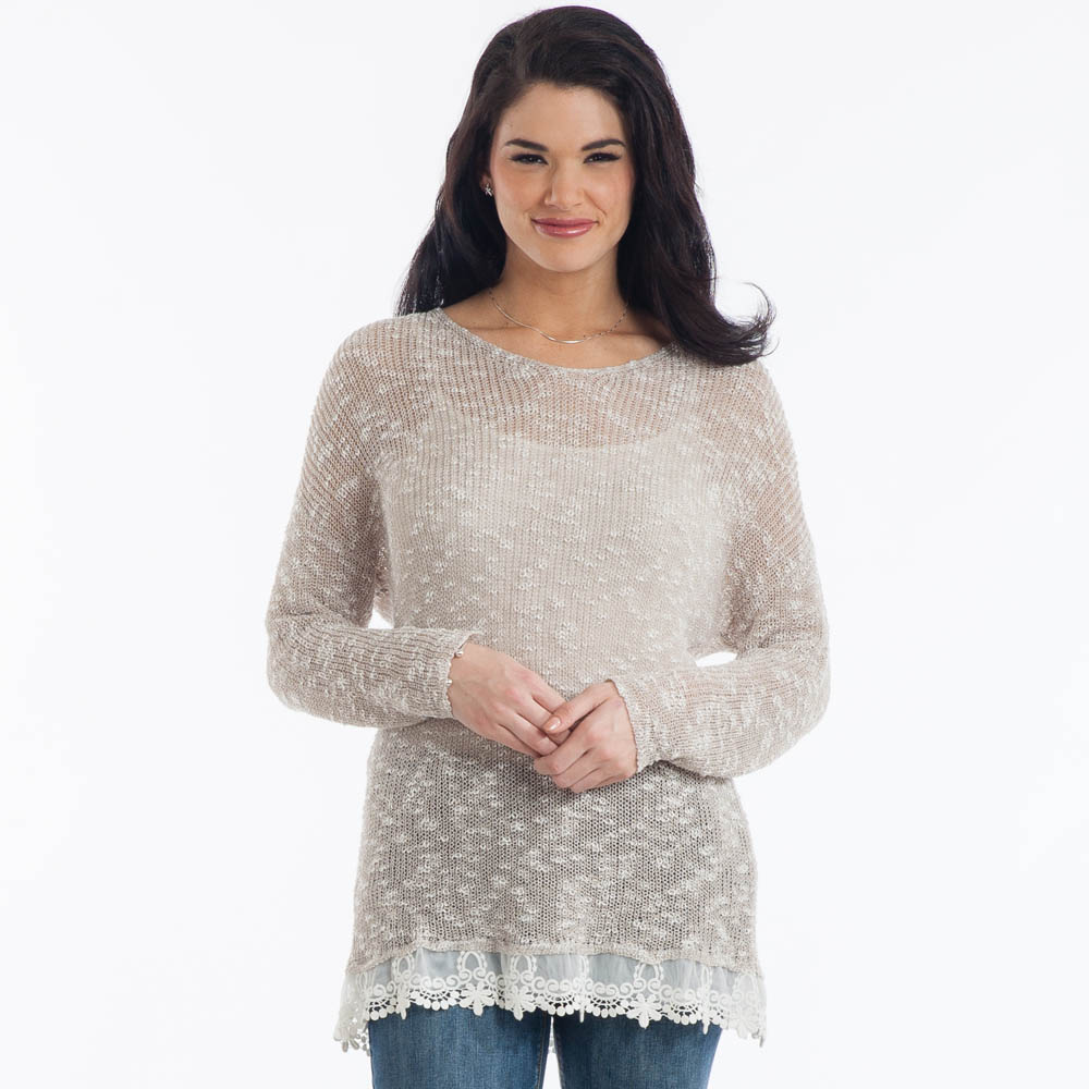 Dreamers Open-Weave V-Neck Sweater