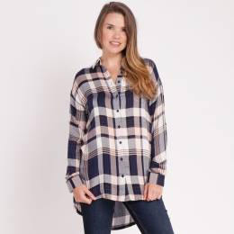 Dreamers Plaid Button-Up Top