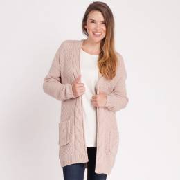 Dreamers Chunky Cable Trim Cardigan