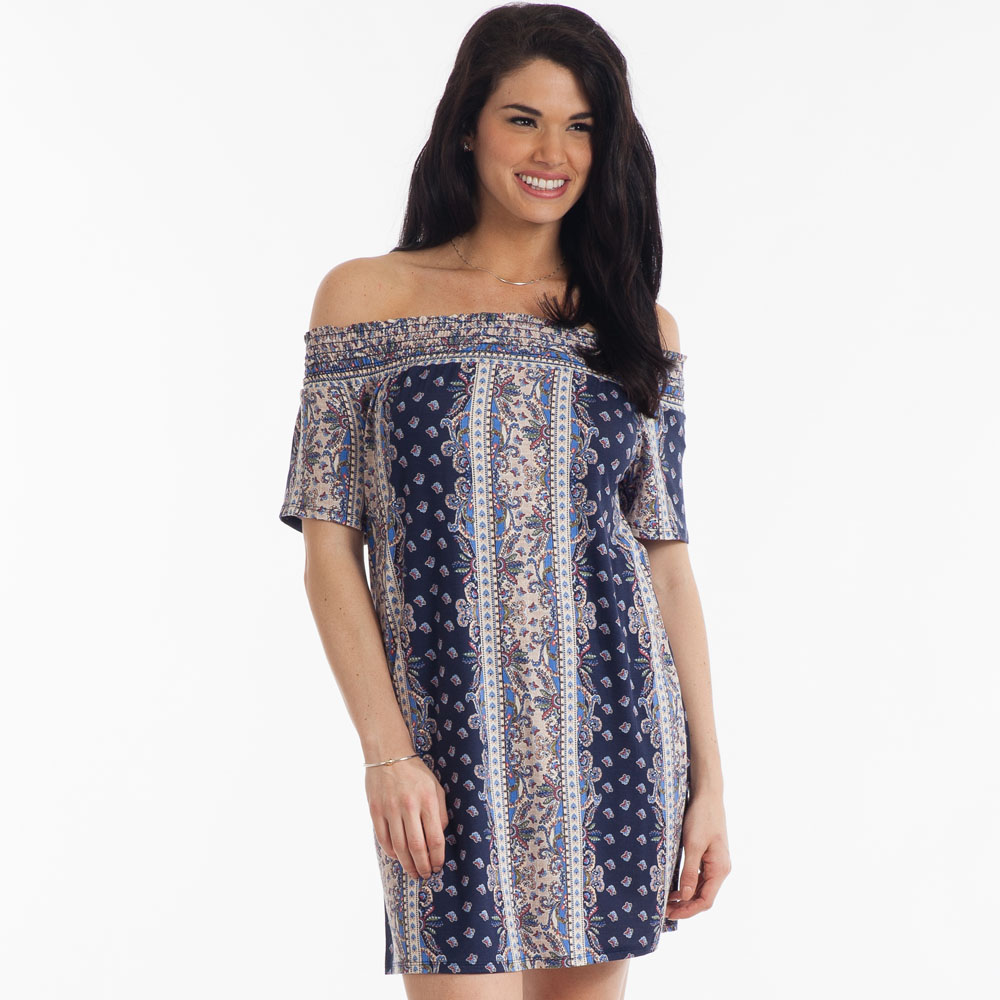 Tres Bien Paisley Panel-Print Dress