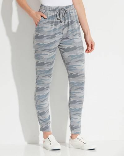 Exclusive Cozy Jogger Pants in Blue Camo