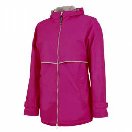 Charles River Apparel Women's Pink New Englander Rain Jacket