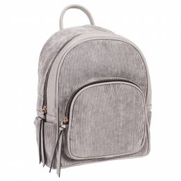 Le Miel Corduroy Backpack in Grey