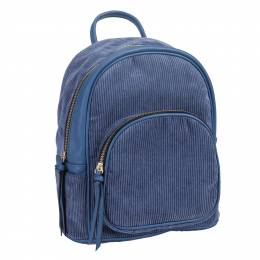 Le Miel Corduroy Backpack in Blue