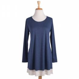 Fantastic Fawn Blue Lace Trimmed Tunic